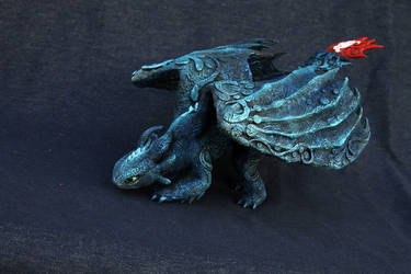 Toothless blue alpha - personal order by hontor