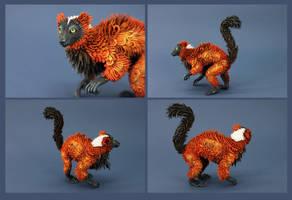 Red Ruffed Lemur II by hontor