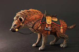 Saddled hyena by hontor