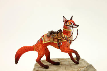Saddled fox by hontor