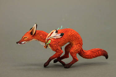 Running fox by hontor