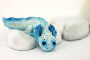 Snow axolotl by hontor