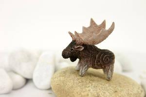 Moose totem by hontor