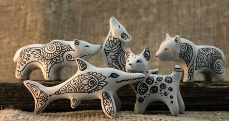Zen Doodle Animals by hontor
