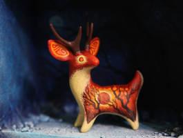 Solar eclipse deer by hontor