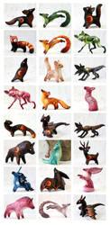 Animal figurines by hontor