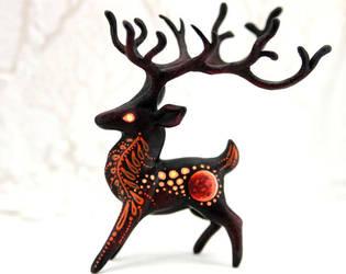 Night deer by hontor