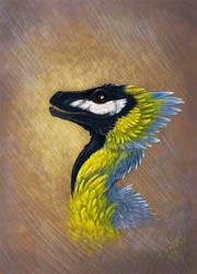 Titmouse raptor by hontor
