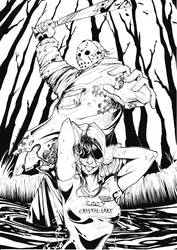 Friday the 13th - Black and White by Tiger-Lilyy