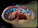 Ice Princess Wired Ear Cuff by sodacrush