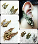 Wing Ear Cuffs 2 by sodacrush