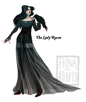 Character Adopt - The Lady Raven [closed] by fionadoesadopts