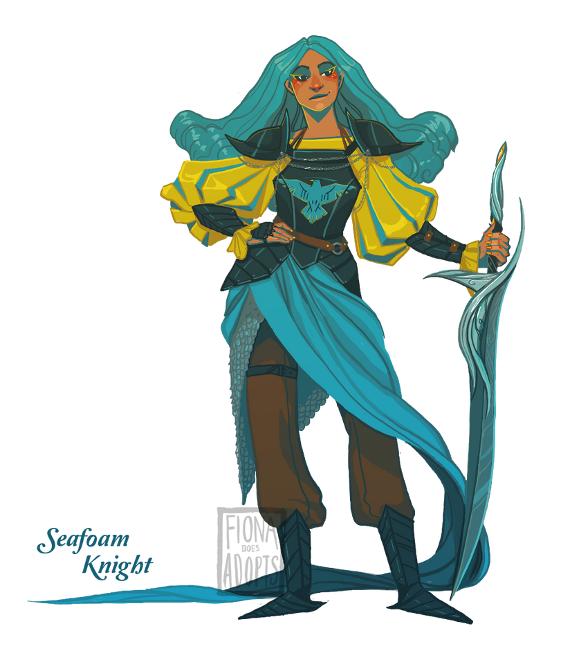 Character Adopt -  Seafoam Knight [closed] by fionadoesadopts