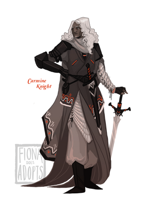 [closed] Adopt - Carmine Knight by fionadoesadopts