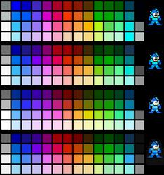 NES Palettes - Mega Man Edition by N64Mario84