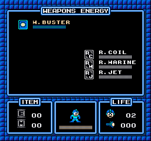 Mega Man Improved Pause Menu for a Game Engine by N64Mario84