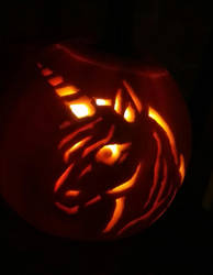 Unicorn Pumpkin by Katia-Gagne
