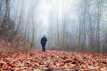 Autumn walk by FeliDae84