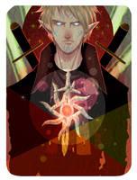 Mahanon Lavellan Inquisitor - Tarot by Noctolum