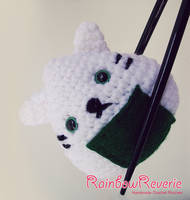 Onigiri Sushi Cat Amigurumi Crochet Plush by RainbowReverie