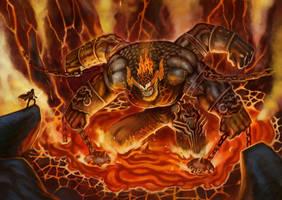 Larvo colossus of fire by Zaidizainal