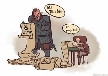 Game of Thrones S03E09--KILL LIST by zeekolee