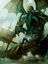 Attack of Cthulhu by PixelObsession