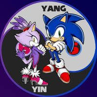 Yin and Yang! Blaze and Sonic! by GamingKenetics