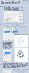Photoshop Tutorial - Draw a character using layers by Solloby
