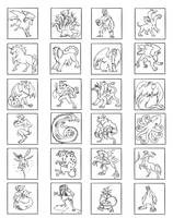 Mythological Thumb Nails by Twinerism