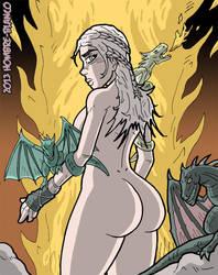 Daenerys Targaryen - Mother of Dragons by hombre-blanco