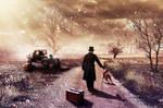 Man on Road by erkanozan