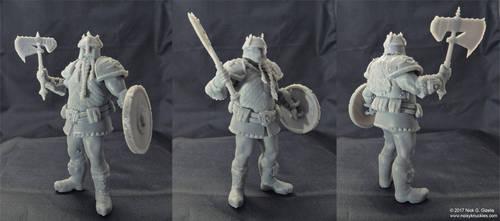 Dwarf warrior miniature by AUMAKUA70