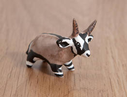 Oryx antelope polymer clay totem by lifedancecreations