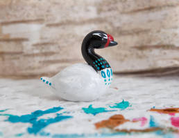 Native painted black-necked swan by lifedancecreations