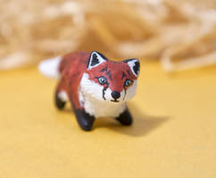 Blue eyed fox baby by lifedancecreations