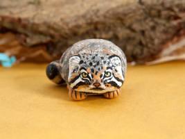 Grumpy Pallas cat by lifedancecreations