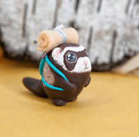 Ferret the traveler by lifedancecreations