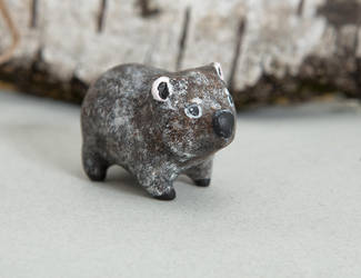Wombat figurine by lifedancecreations