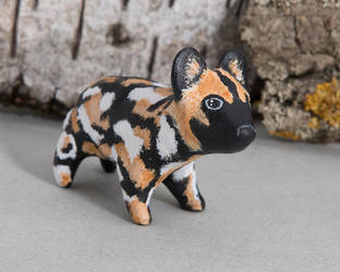 African wild dog figurine by lifedancecreations