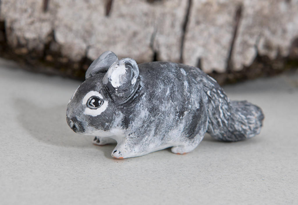 Chinchilla handsculpted  figurine by lifedancecreations