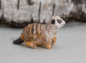 Cute polymer clay meerkat by lifedancecreations