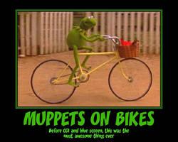 Muppets on bikes poster by YuiHarunaShinozaki