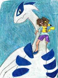 Flying on Lugia by YuiHarunaShinozaki