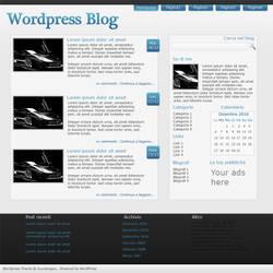 Wordpress blue by Juunanagou17