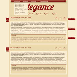 Elegance Blog Skin by Juunanagou17
