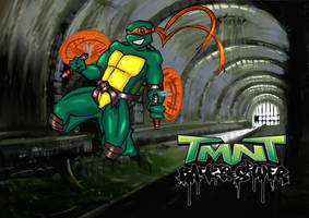 TMNT michelangelo by drago-flame
