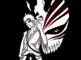 Hollow Ichigo by drago-flame