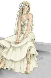 Fleur:Wedding dress by nami86 by BellatrixBlackSnape