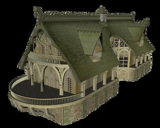Elven Village - Inn 01 by kiarajoy-stock